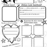 All About Me {Free Spanish Printable} | Discovering The World   Free Printable All About Me Worksheet