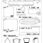 All About Me Worksheet   Free Esl Printable Worksheets Madeteachers   Free Printable All About Me Worksheet