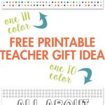All About My Teacher Free Printable | Best Of Pinterest | Pinterest   All About My Teacher Free Printable