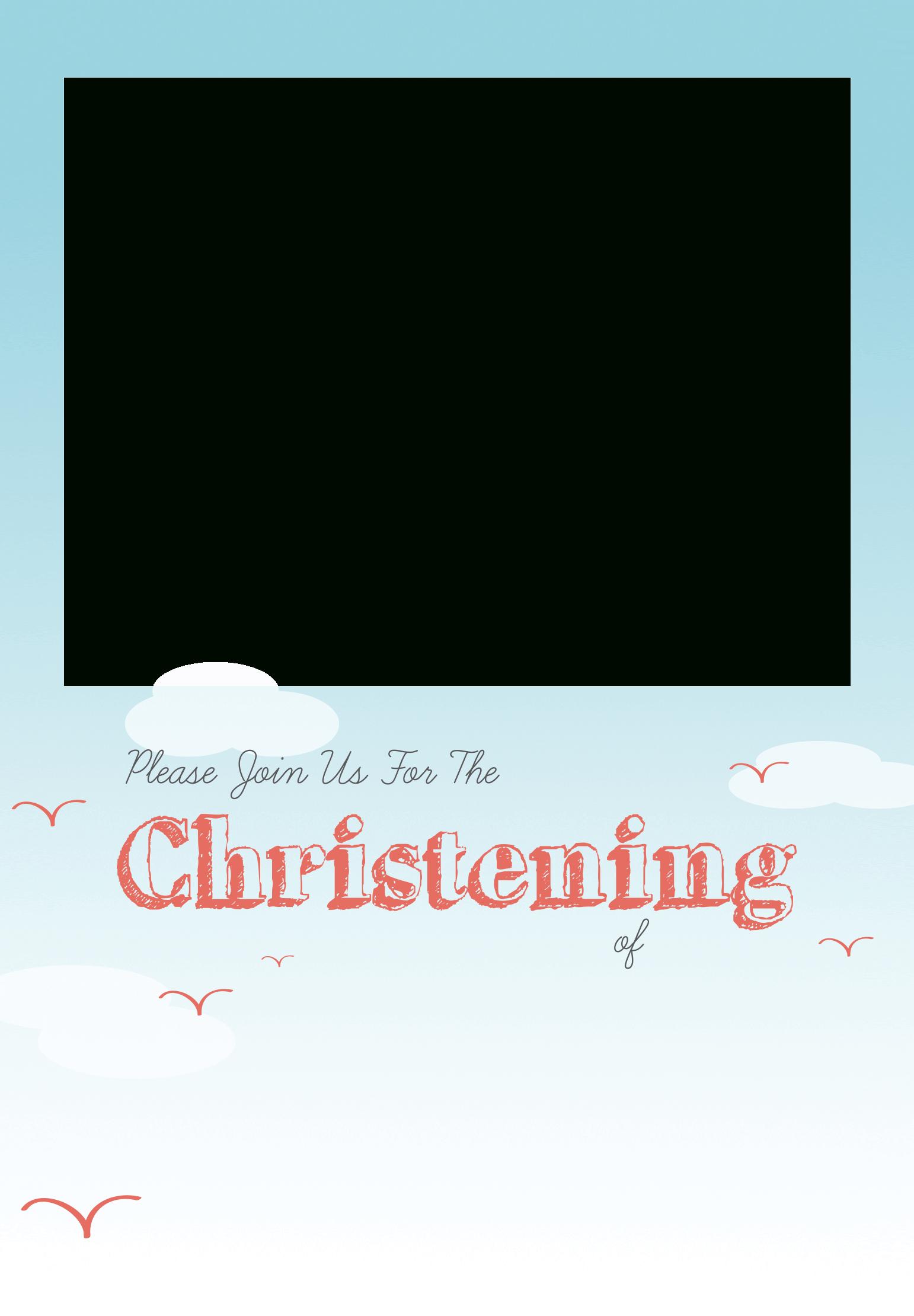 All Smiles - Free Printable Baptism & Christening Invitation - Free Printable Baptism Invitations