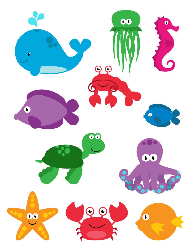 Alluring Printable Sea Creatures Colouring In Good Printable Sea - Free Printable Sea Creature Templates