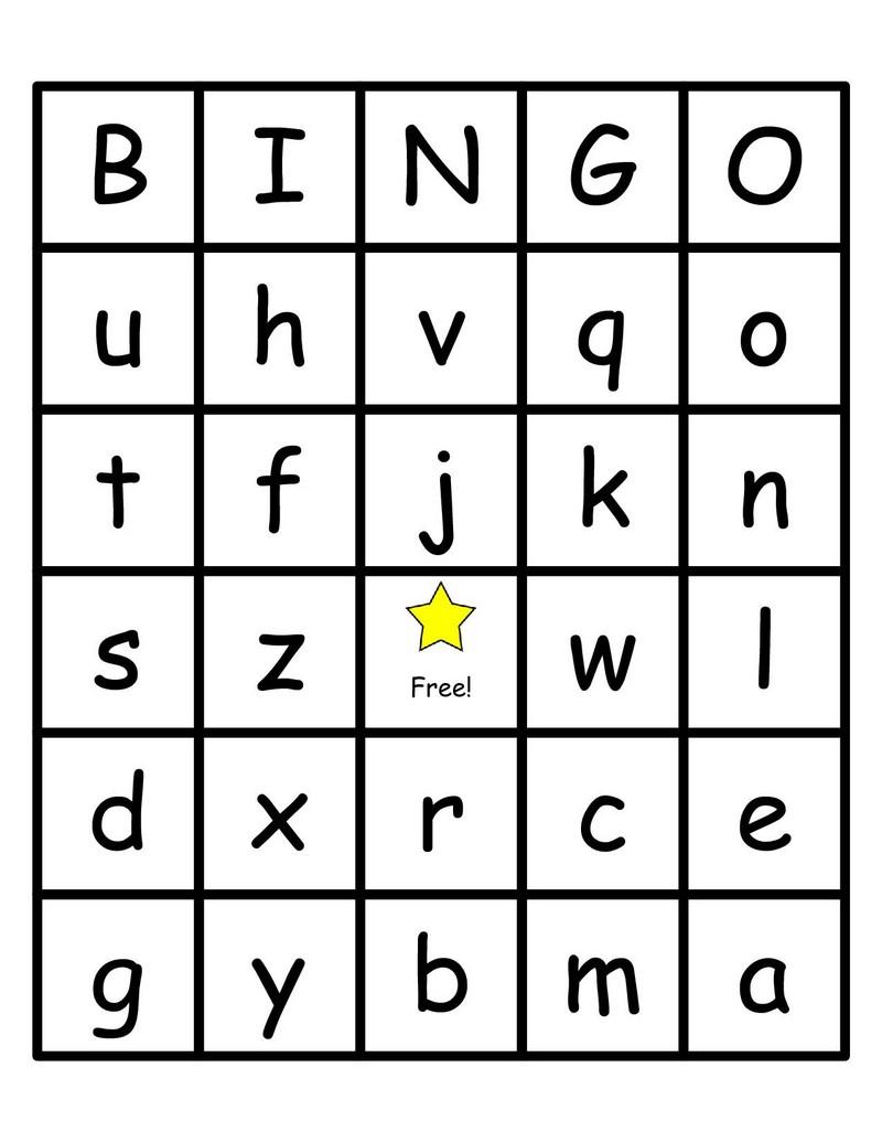 Alphabet Bingo Printable Cards - Photos Alphabet Collections - Free Printable Alphabet Bingo Cards