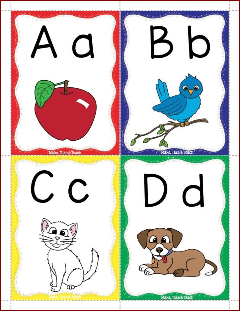 Alphabet Flashcards Freebie | Kinderland Collaborative | Phonics - Free Printable Abc Flashcards With Pictures