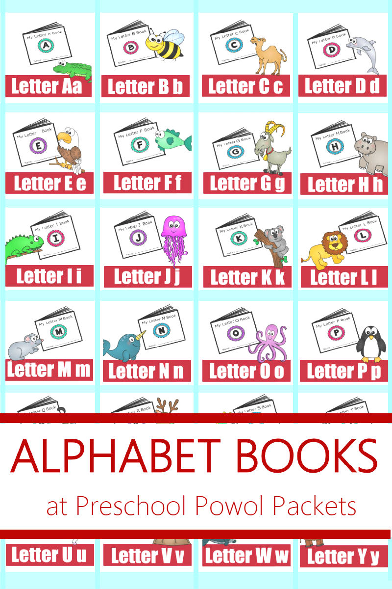 Alphabet! Free Printable Mini Books | Preschool Powol Packets - Free Printable Abc Mini Books