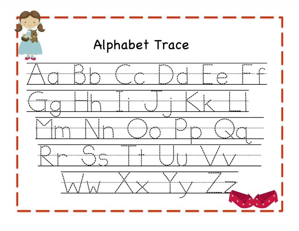 Alphabet Tracing | Kiddo Shelter - Free Printable Alphabet Tracing Worksheets For Kindergarten