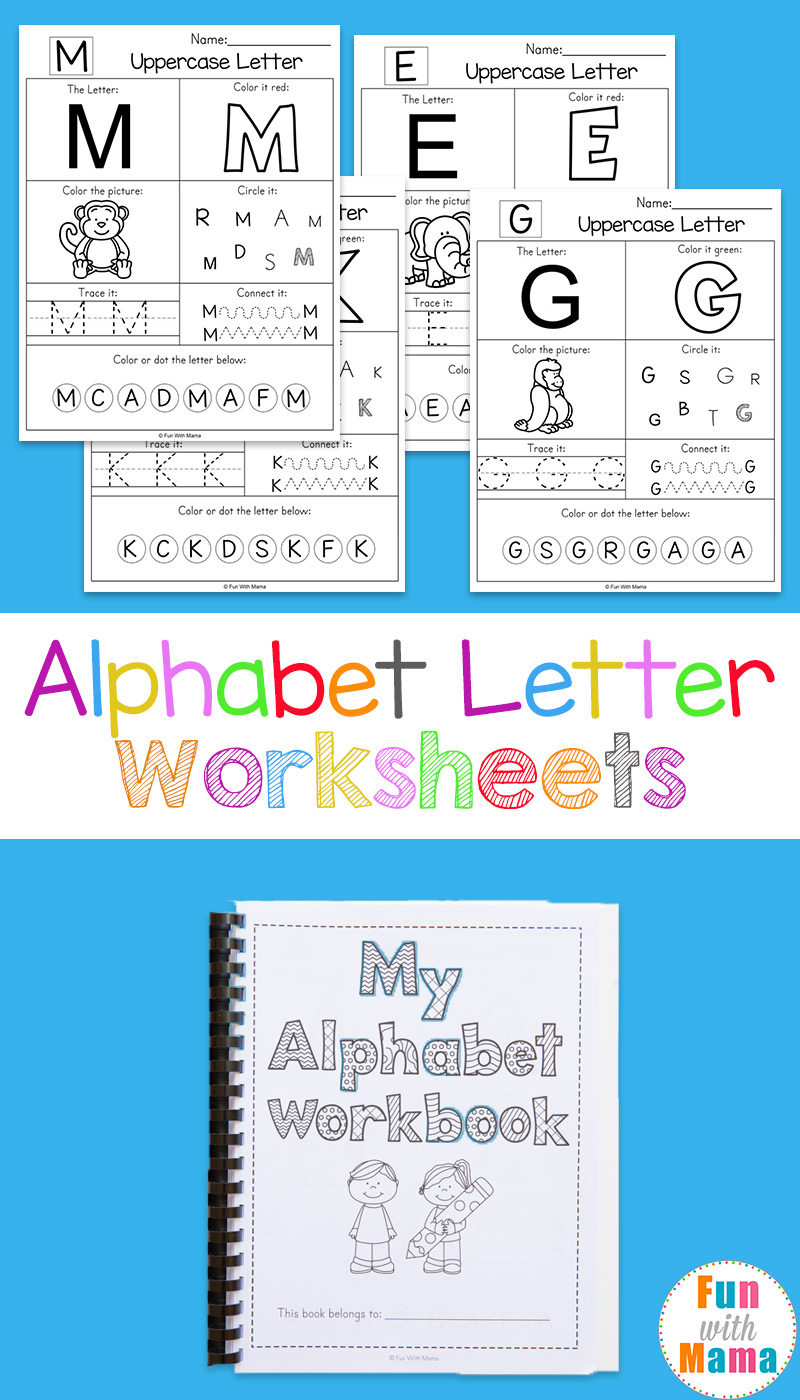 Alphabet Worksheets - Fun With Mama - Free Printable Alphabet Letters