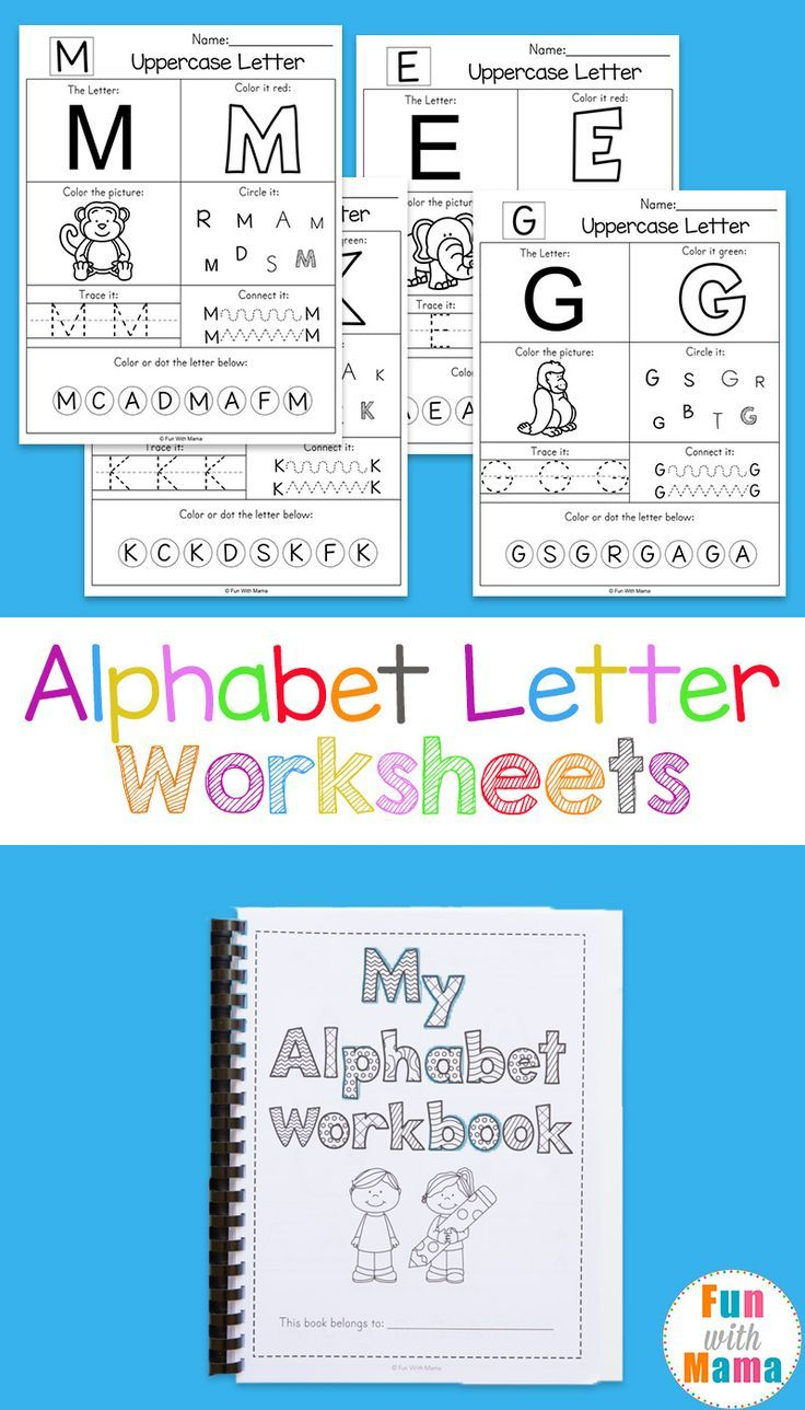 Alphabet Worksheets | Kid Blogger Network Activities & Crafts - Free Printable Alphabet Letters For Display