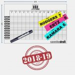 Amazon : 16 Fantasy Football Draft Board And Player Label Kit ..   Free Fantasy Football Draft Kit Printable