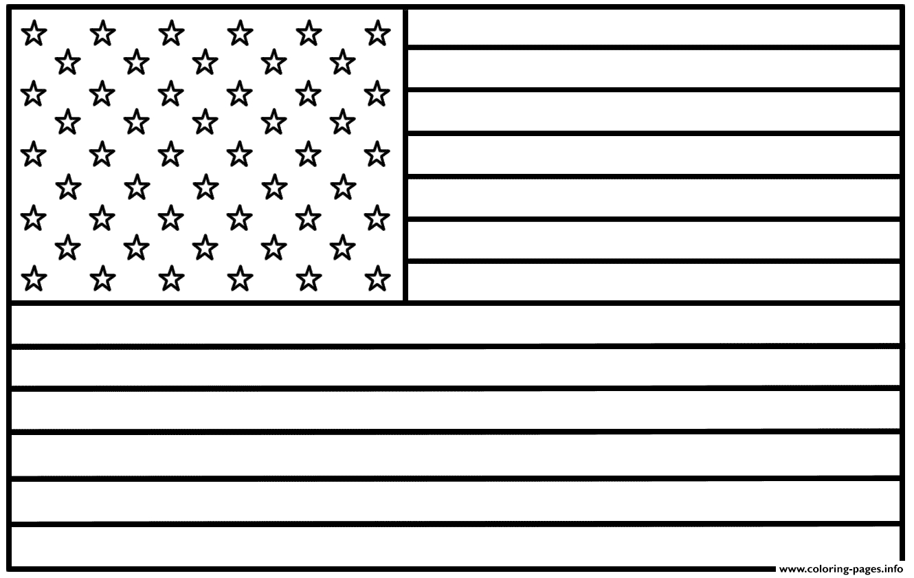American Flag Coloring Pages Printable - Free Printable American Flag Coloring Page