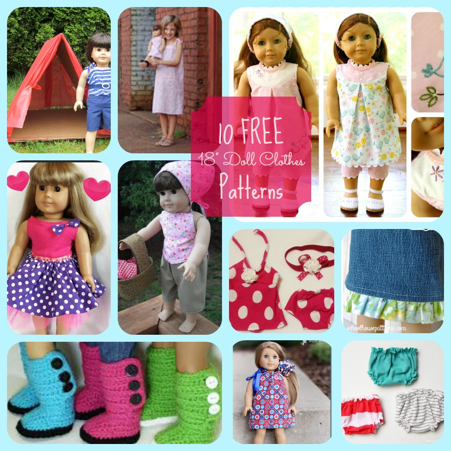 American Girl Doll 10 Free Patterns For Cute Clothing And Accessories - American Girl Clothes Patterns Free Printable