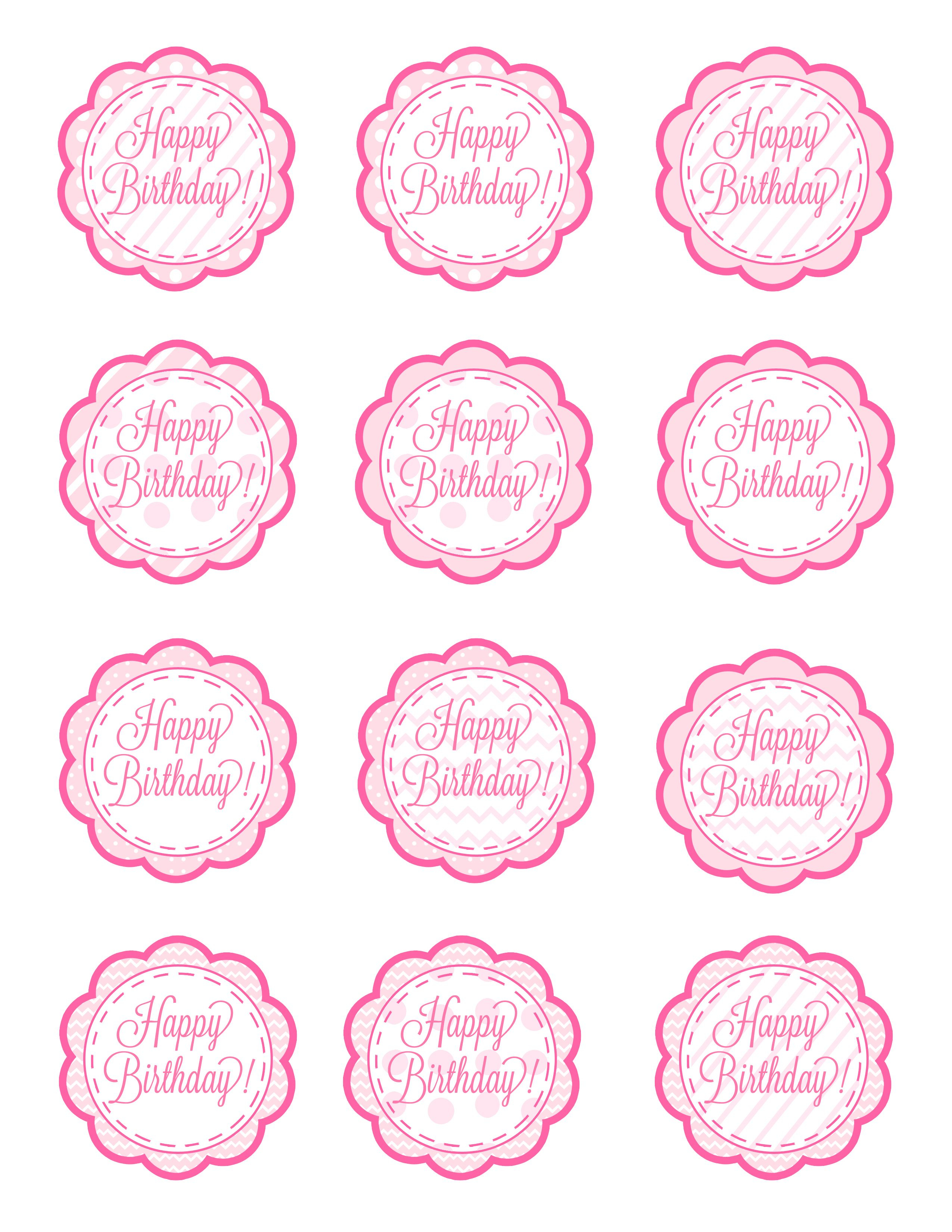 American Girl Free Cupcake Toppers Printable | These Could Also - Cupcake Flags Printable Free