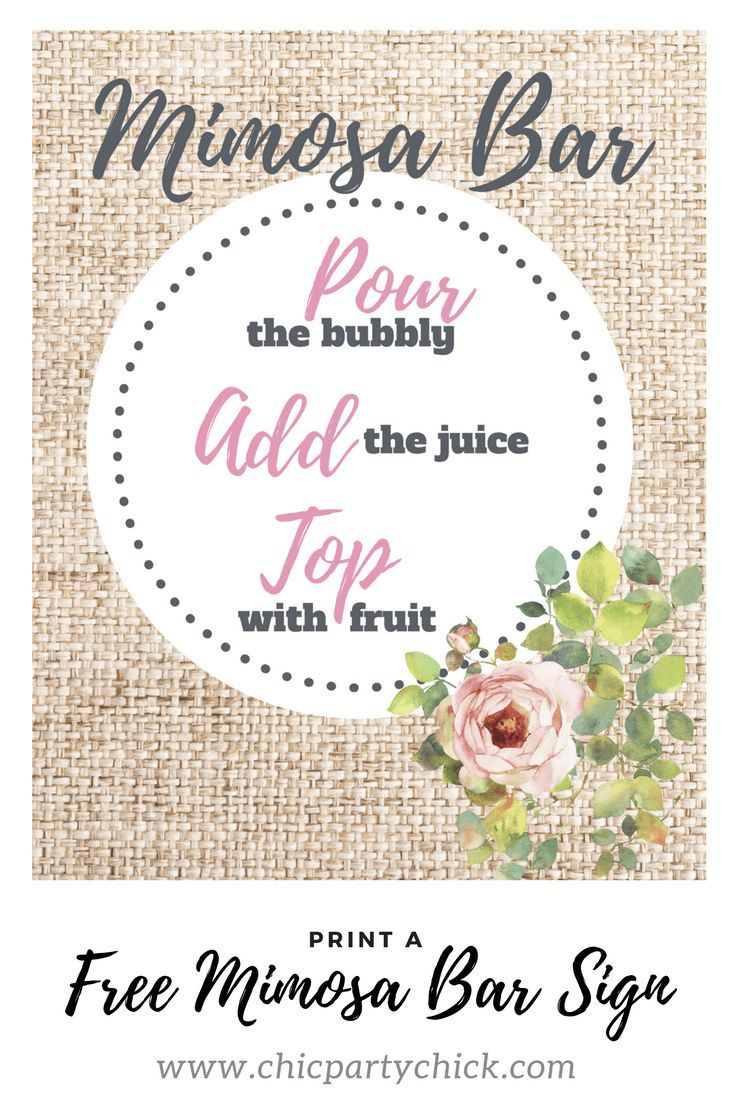 An Easy Mimosa Bar Set Up Guide For Any Occasion | Fun Stuff - Free Printable Mimosa Bar Sign
