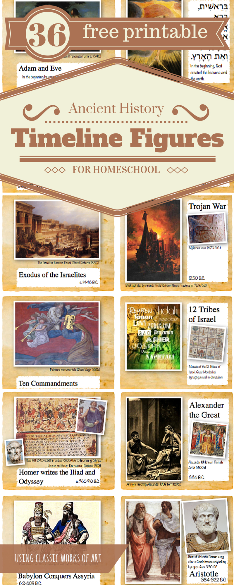 Ancient History Timeline Figures Of The Ocd Homeschool Mom Classical - Free Printable Timeline Figures