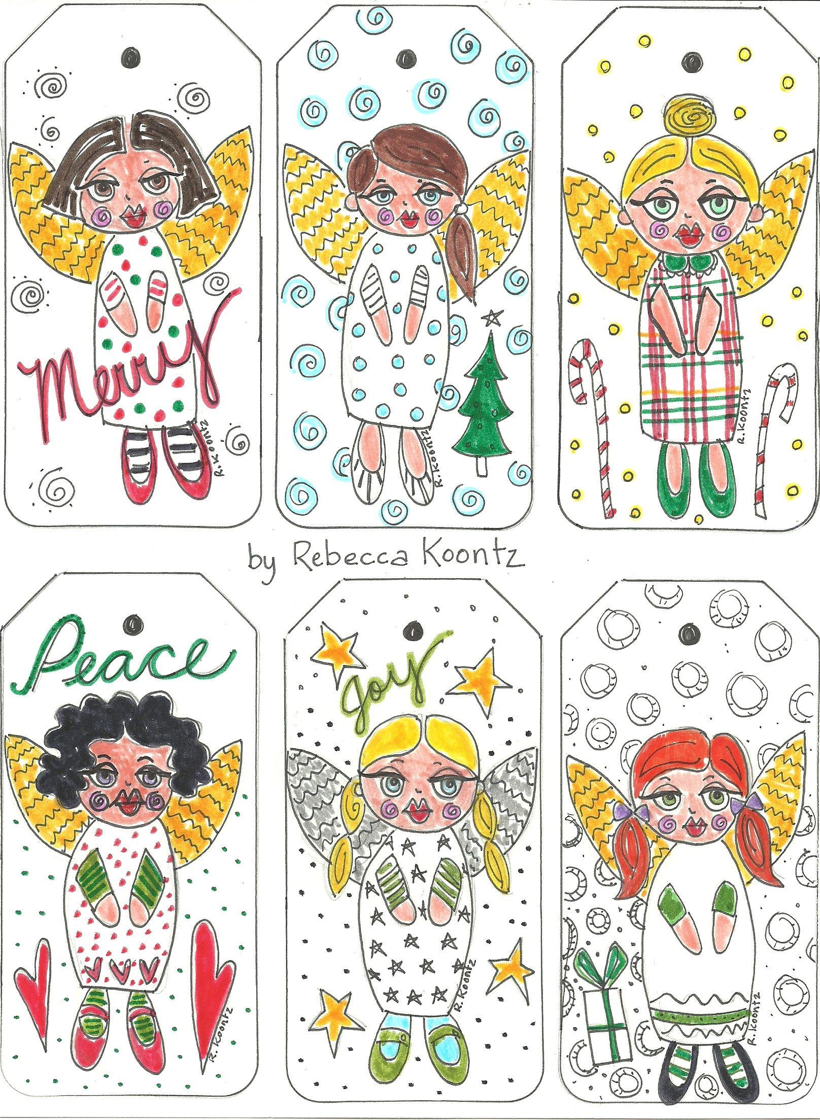 Angel Gift Tags (Free Printable)   Christmas   Pinterest   Free - Free Printable Angel Gift Tags
