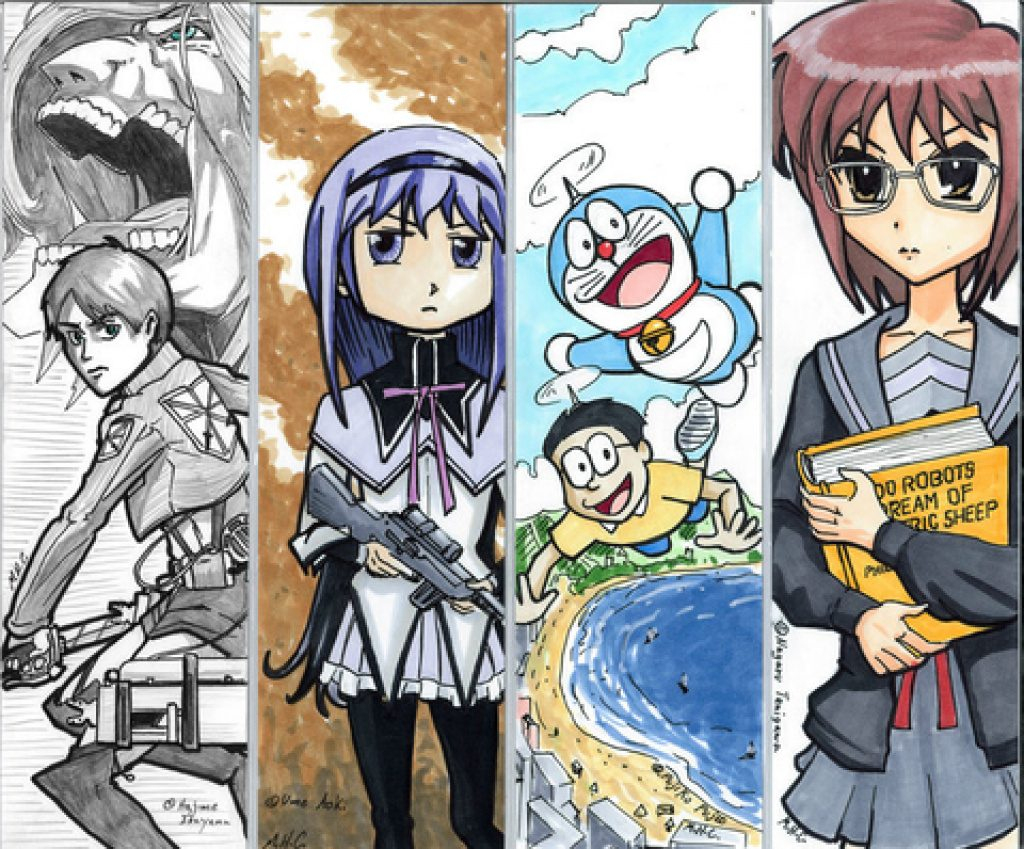 Anime Bookmarks Printable For Free | Free Printable - Anime Bookmarks Printable For Free