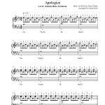 Apologizeone Republic Piano Sheet Music   Intermediate Level   Apologize Piano Sheet Music Free Printable
