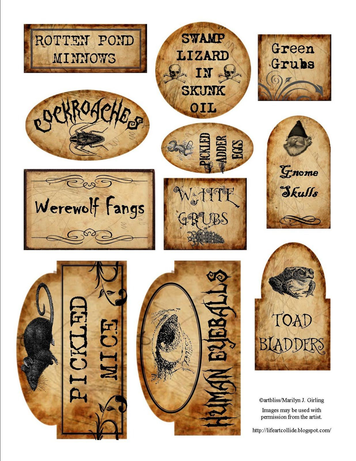 Apothecary Jar Labels For Download …   Holiday - Free Printable Apothecary Jar Labels