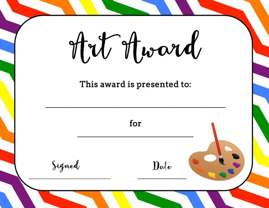 Art Award Certificate (Free Printable) | Art | Pinterest | Art - Free Printable Camp Certificates