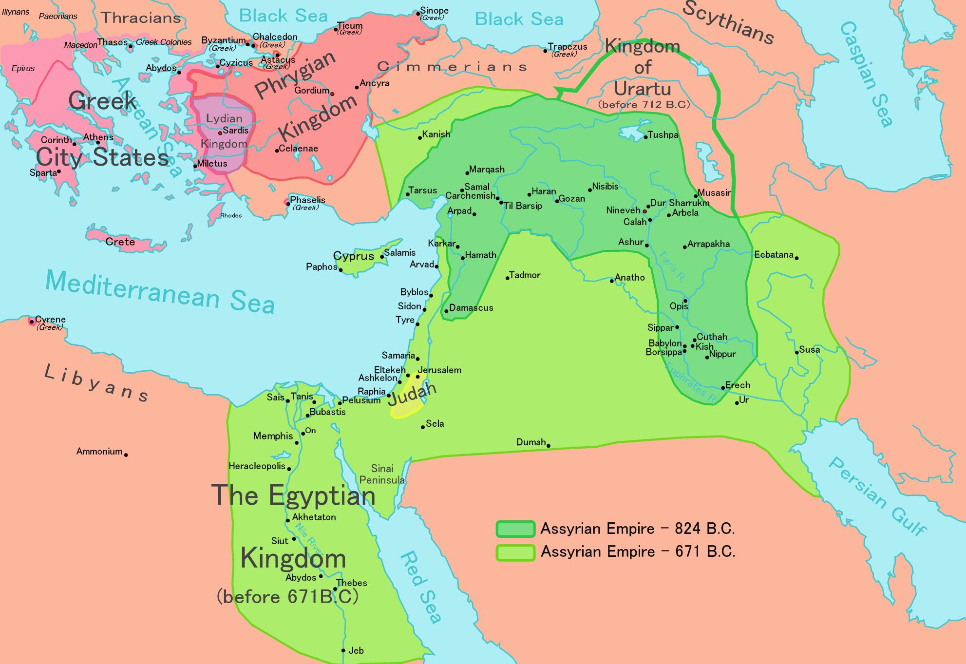 Assyria - Wikipedia - Free Printable Map Of Mesopotamia