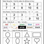 At The Beginning Of The Year, It's A Great Idea To Do A Preschool   Preschool Assessment Forms Free Printable