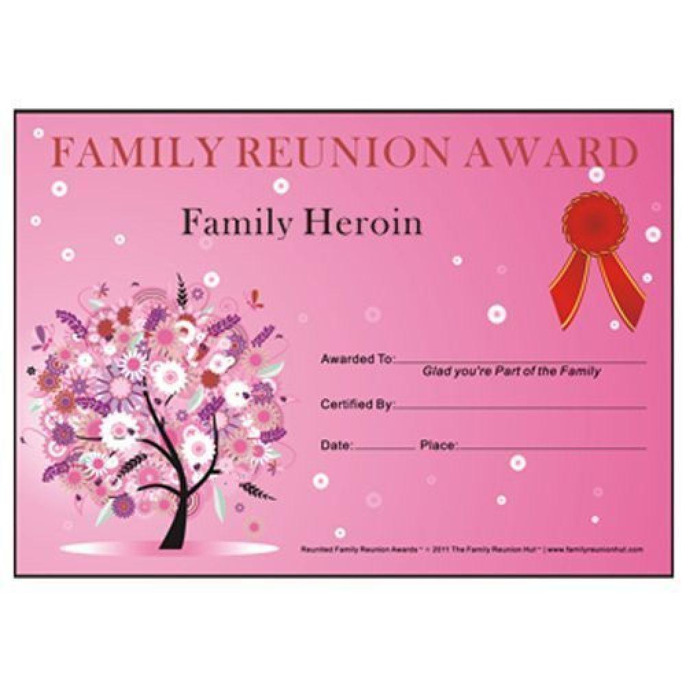 Award Certificates Archives - Family Reunion Hut - Reunion Basics - Free Printable Family Reunion Awards