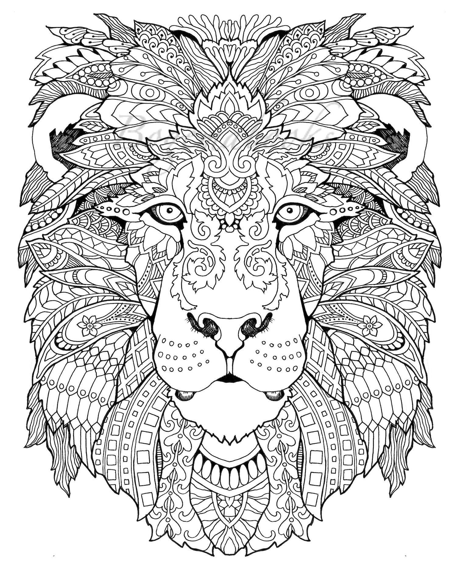 Awesome Animals Adult Coloring Book Coloring Pages Pdf | Awesome - Free Printable Mandalas Pdf