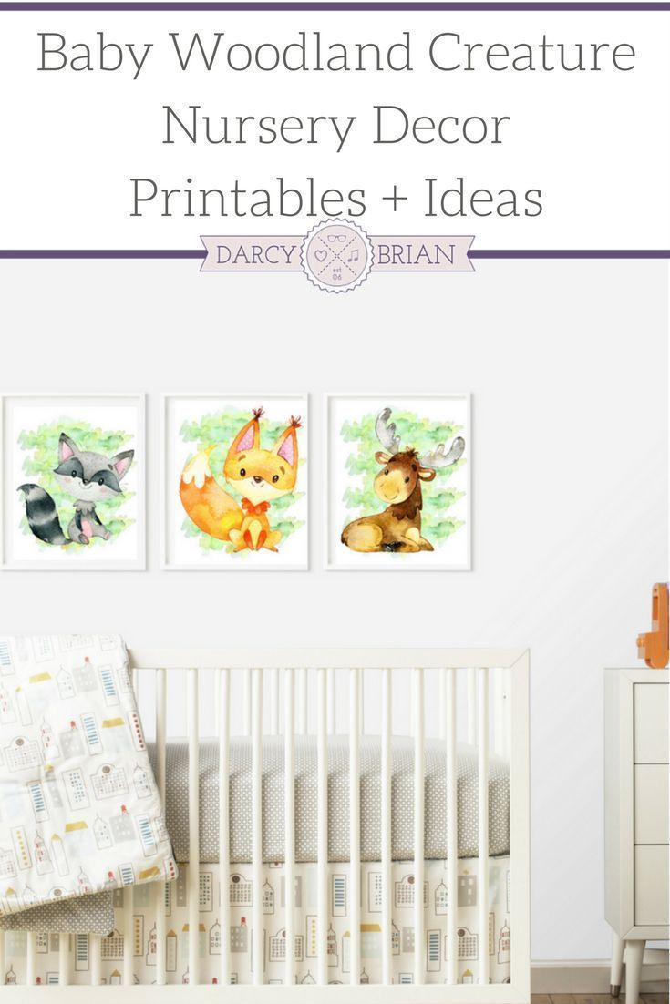 Baby Creature Woodland Nursery Printable Posters | Parenting Tips - Free Printable Nursery Resources