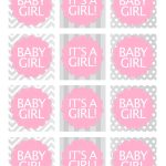 Baby Girl Shower Free Printables   Baby Shower Ideas   Pinterest   Free Printable Baby Shower Favor Tags