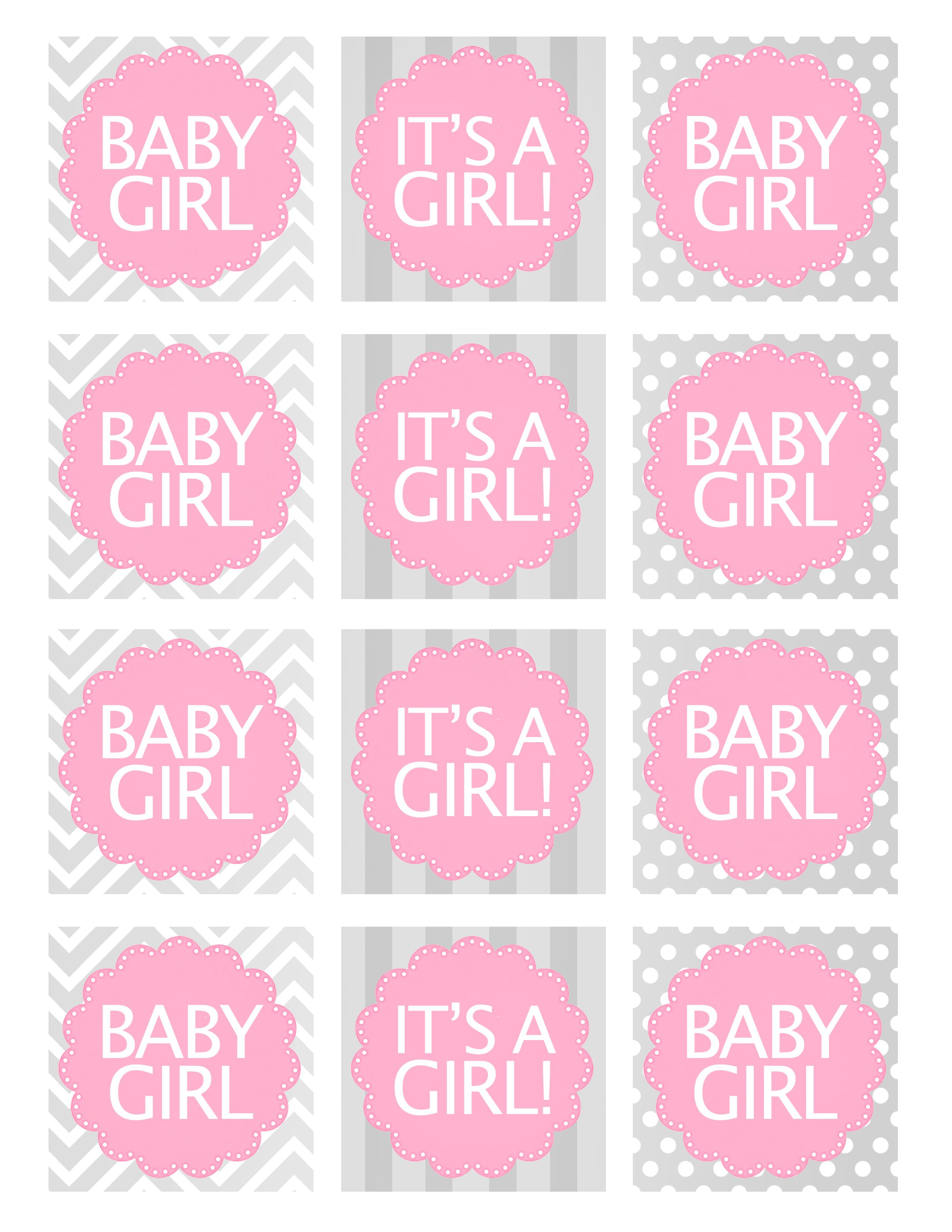 Baby Girl Shower Free Printables | Baby Shower Ideas | Pinterest - Free Printable Baby Shower Favor Tags