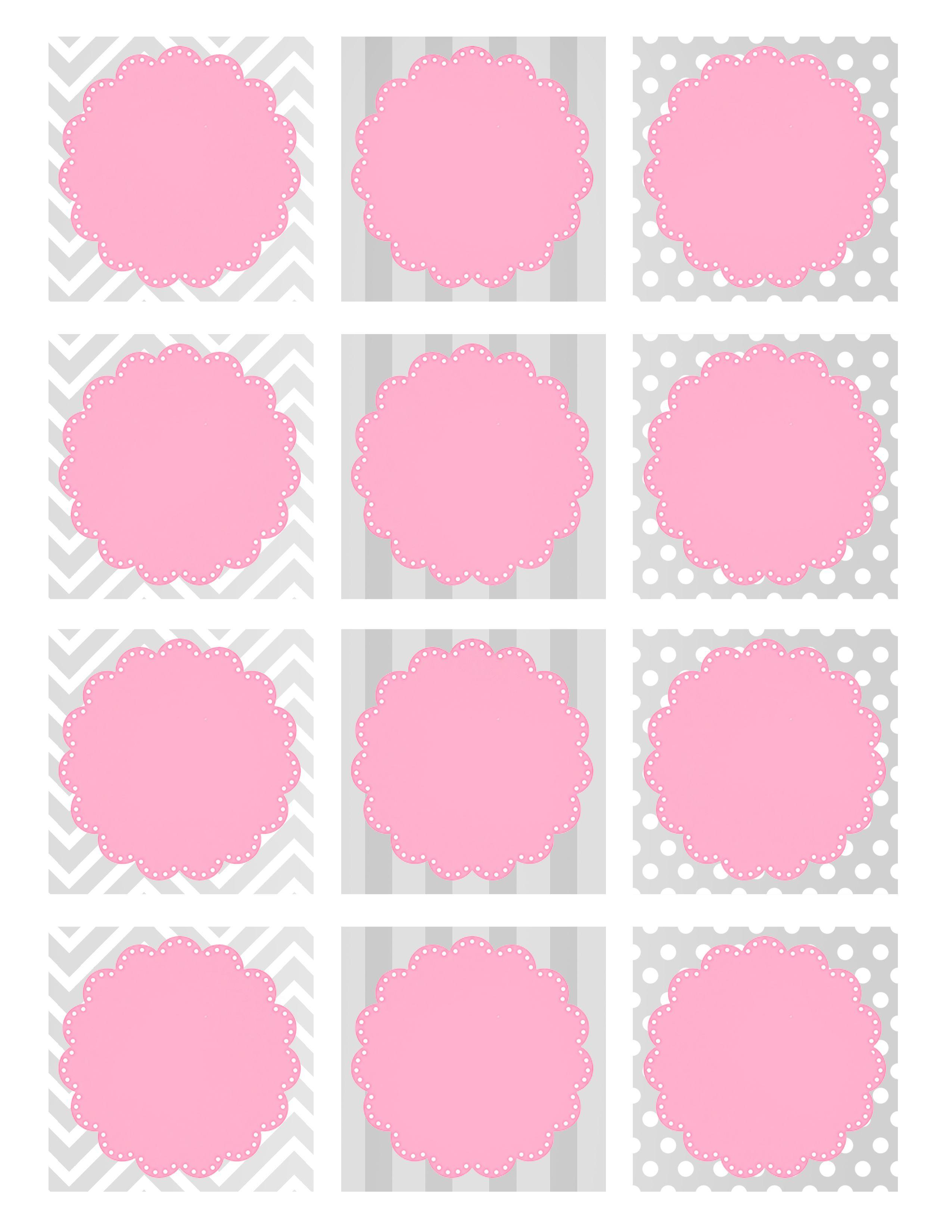 Baby Girl Shower Free Printables | Printable Pages | Pinterest - Free Printable Baby Shower Labels And Tags