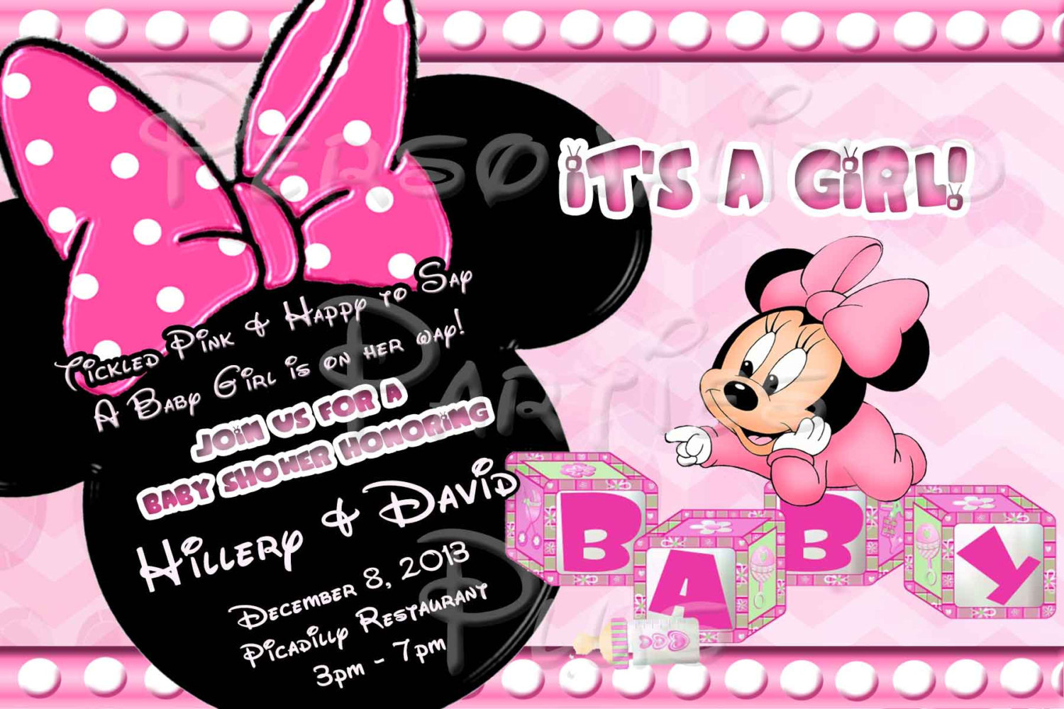Baby Minnie Mouse Baby Shower Invitations Free Printable Modern - Free Printable Minnie Mouse Baby Shower Invitations