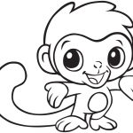 Baby Monkey Coloring Printable | E.v.a | Pinterest | Monkey Coloring   Free Printable Monkey Coloring Sheets