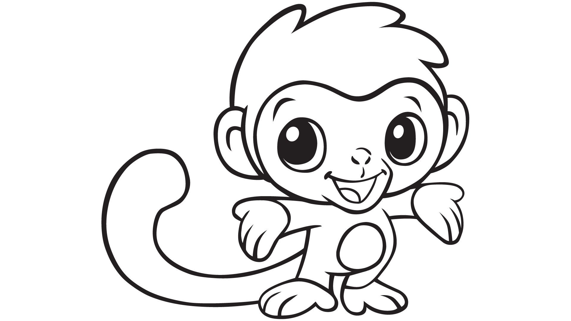Baby Monkey Coloring Printable | E.v.a | Pinterest | Monkey Coloring - Free Printable Monkey Coloring Sheets