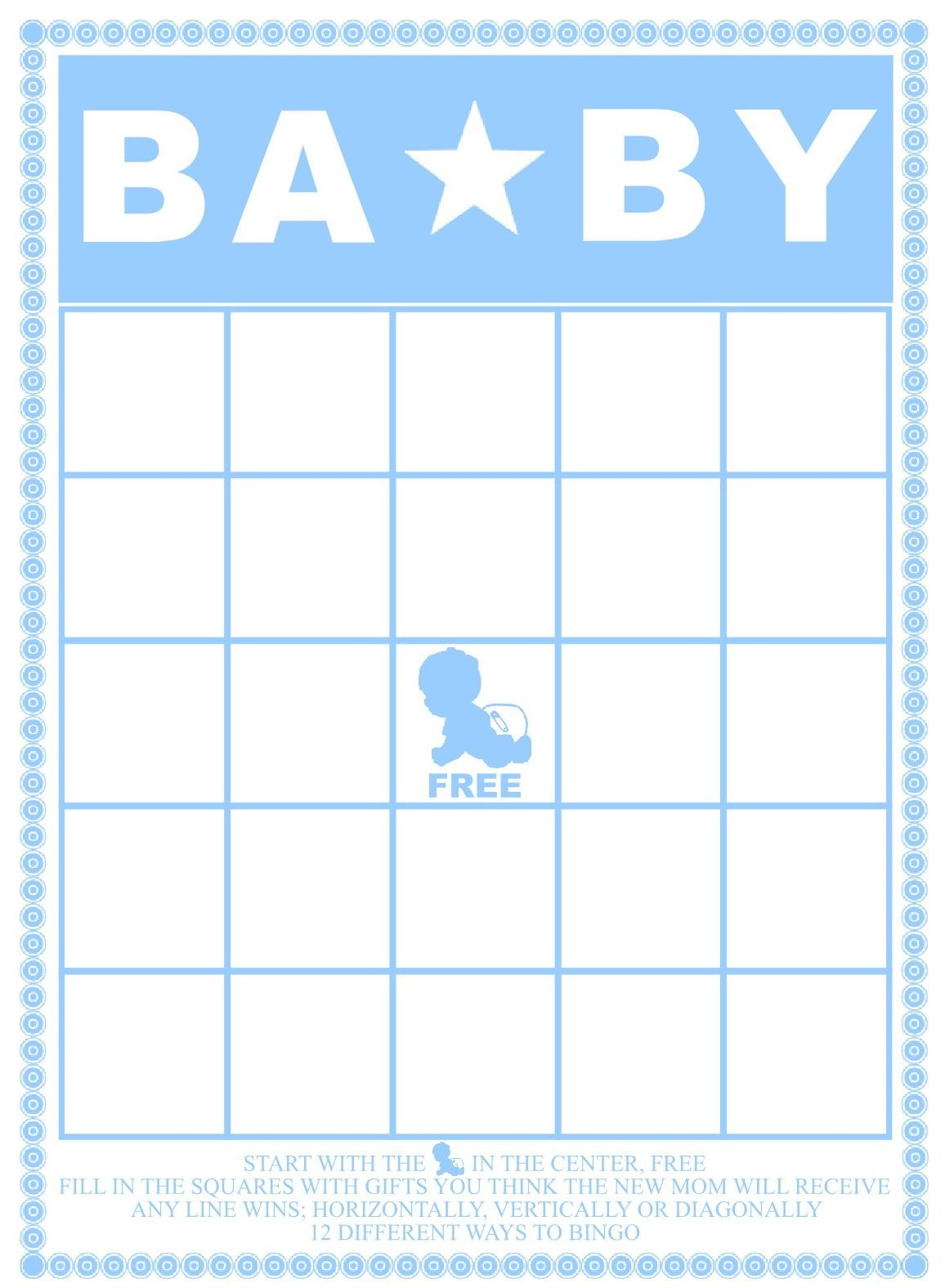 Baby Shower Bingo Card Template - Home Design Ideas - Home Design Ideas - Baby Bingo Free Printable Template