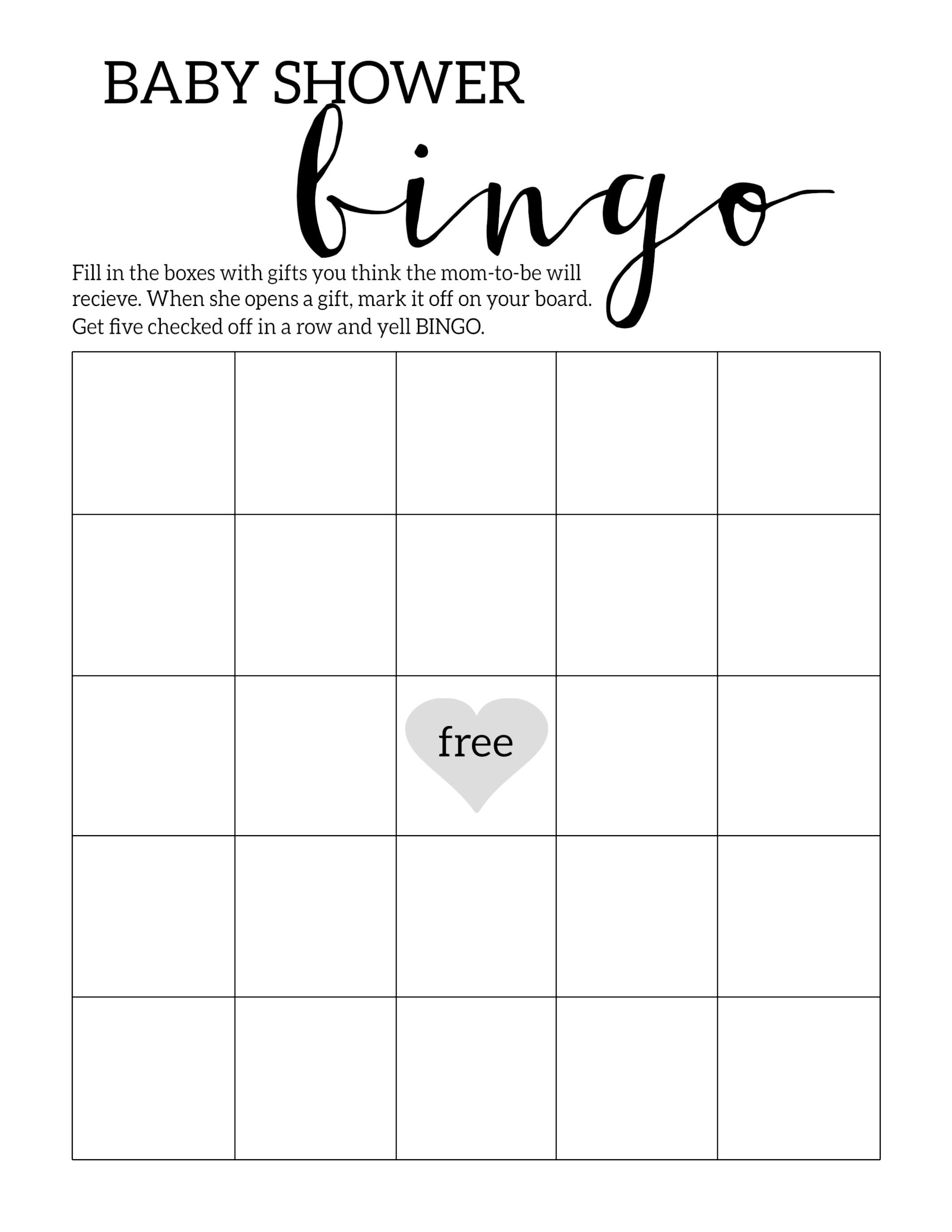 Baby Shower Bingo Printable Cards Template | Baby Shower | Baby - Baby Bingo Free Printable Template