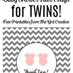 Baby Shower Favor Tags For Twins   The Girl Creative   Free Printable Baby Shower Favor Tags