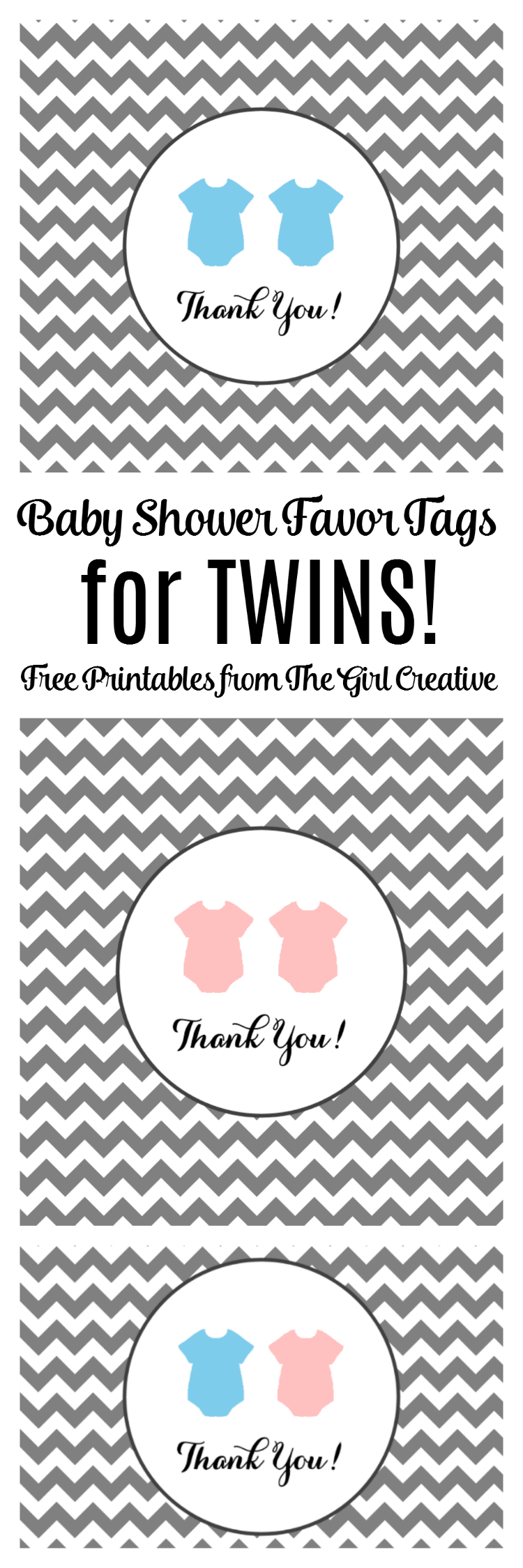 Baby Shower Favor Tags For Twins - The Girl Creative - Free Printable Baby Shower Favor Tags