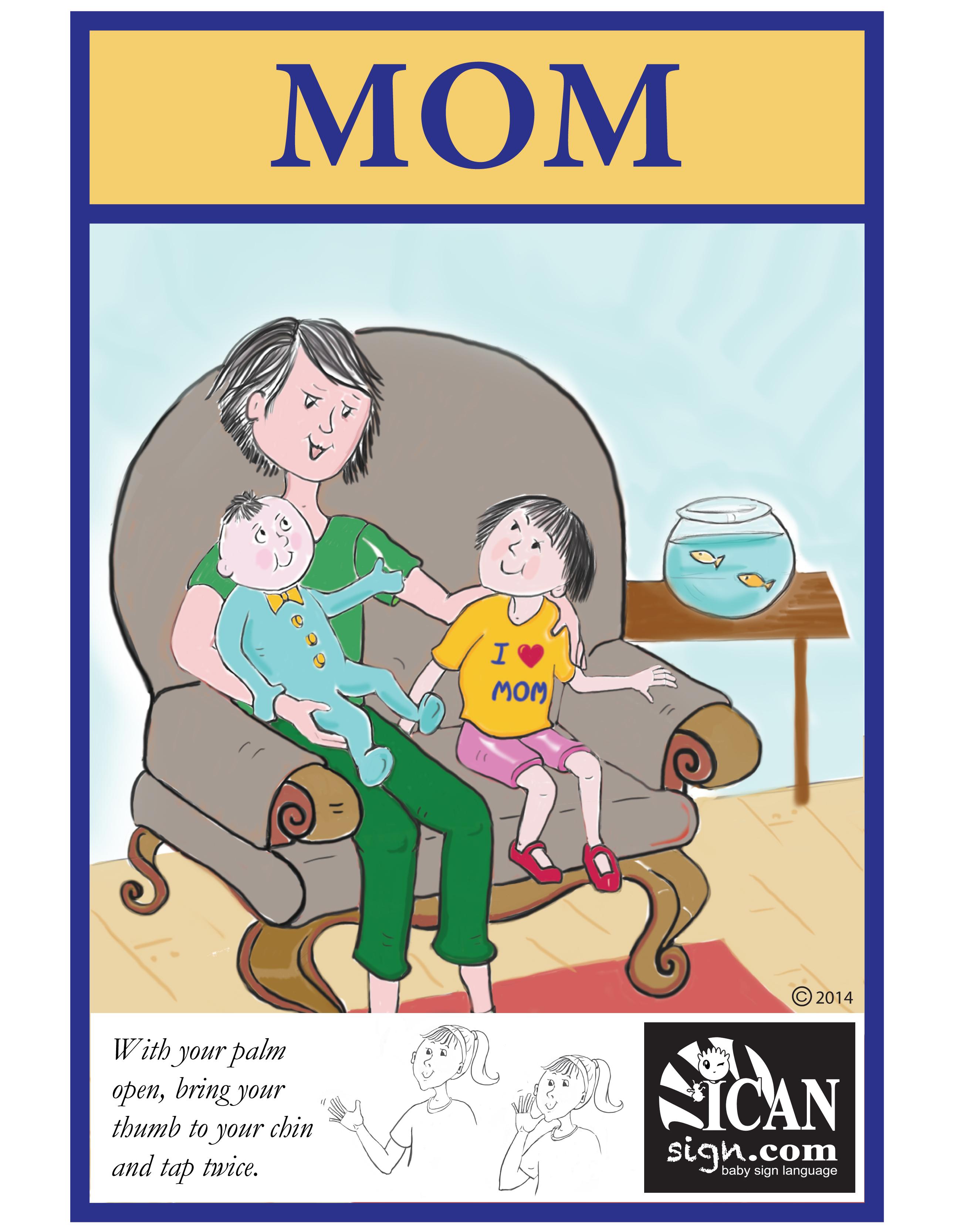 Baby Sign Language Flashcard: Mom – Free Printable Asl Flashcard - Sign Language Flash Cards Free Printable