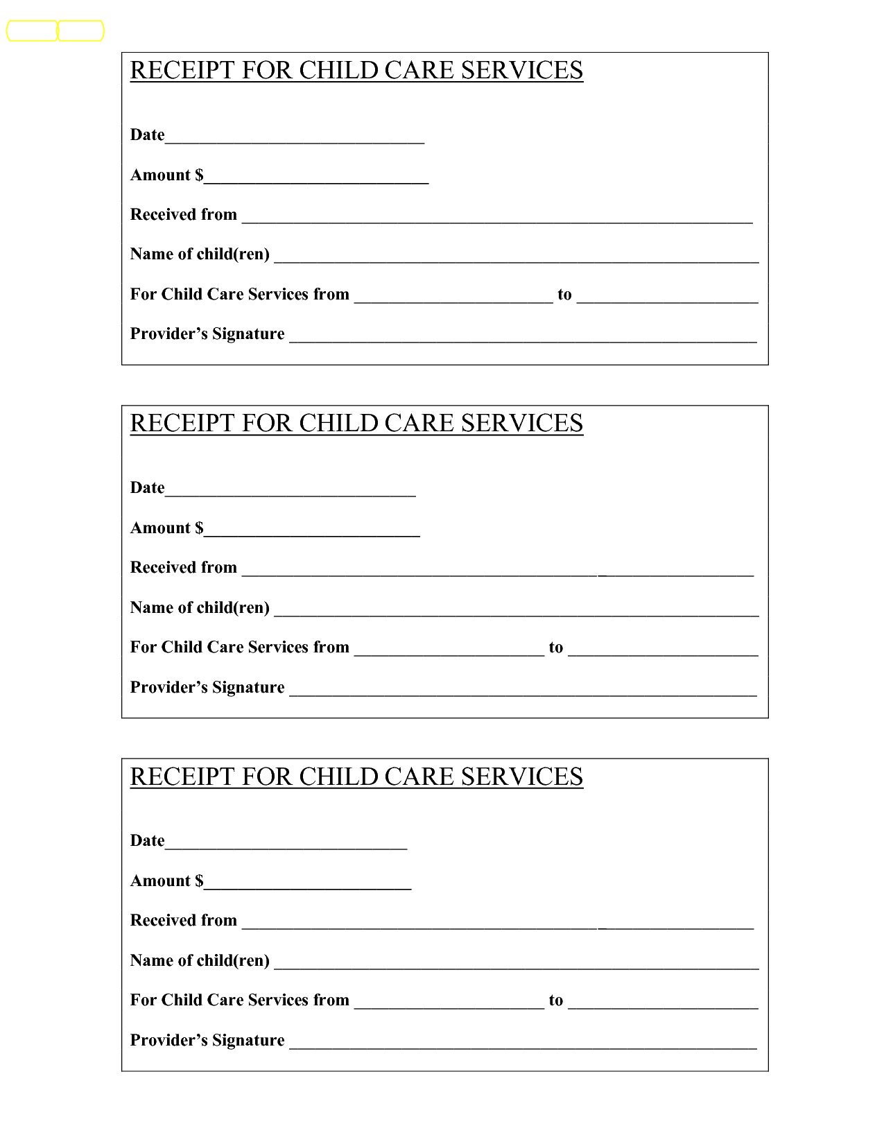 Babysitting Receipt - Bing Images | Baby | Child Care Services, Free - Free Printable Daycare Receipts