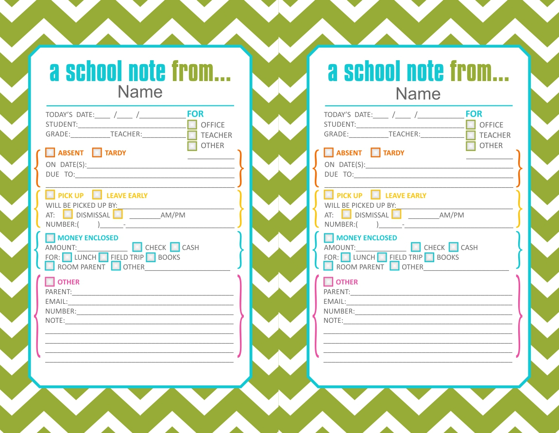 Back-To-School Printables – Clairebella Studio - Free Printable School Notes