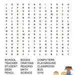 Back To School Word Search Free Printable For Kids | Back To School   2Nd Grade Word Search Free Printable