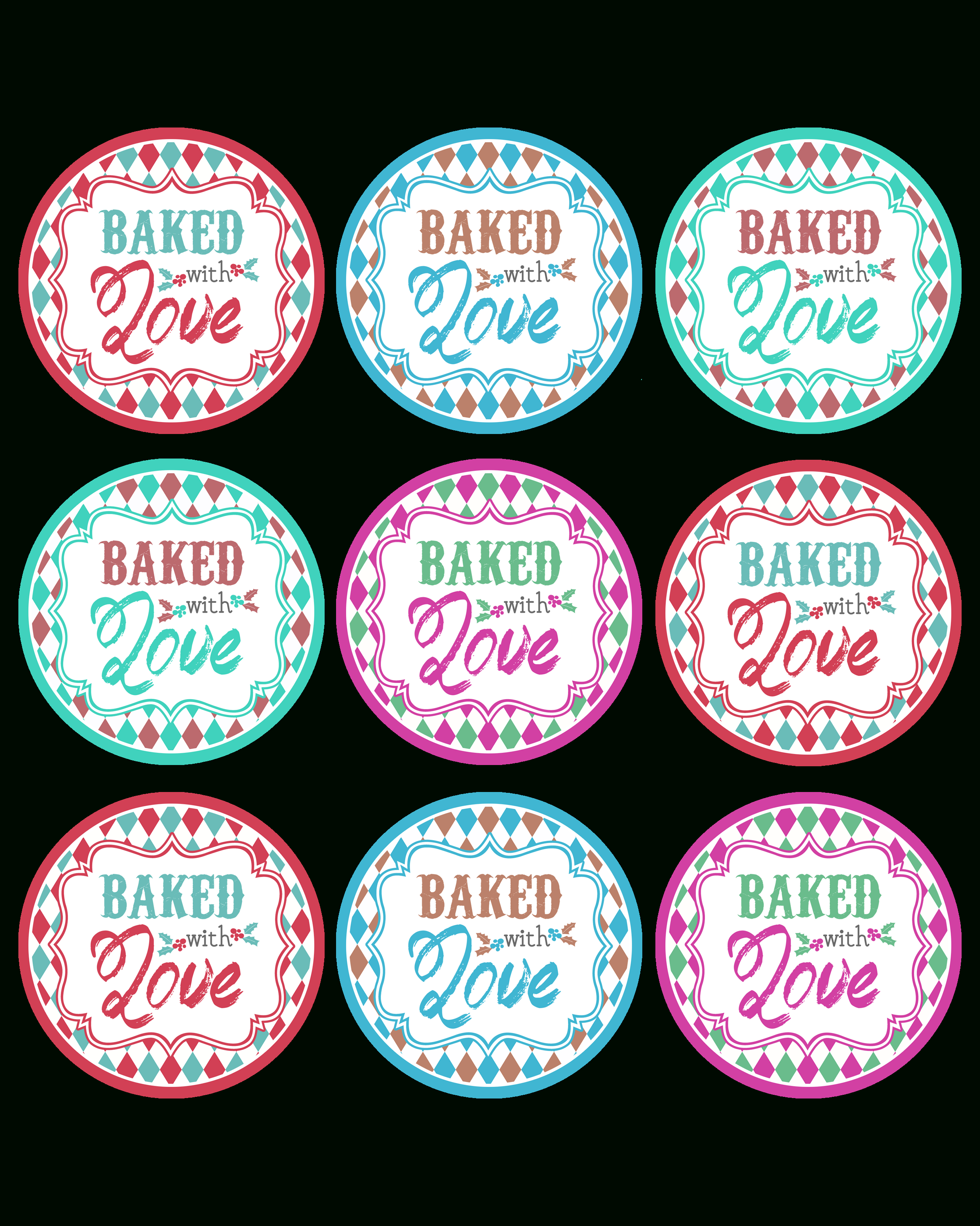 Baked With Love Printable Tags A Gift To You! - The Cottage Market - Free Printable Baking Labels