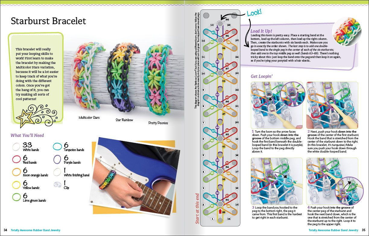 Banda Loom Patterns To Print Out For Free | Sample Pages From - Free Printable Loom Bracelet Patterns