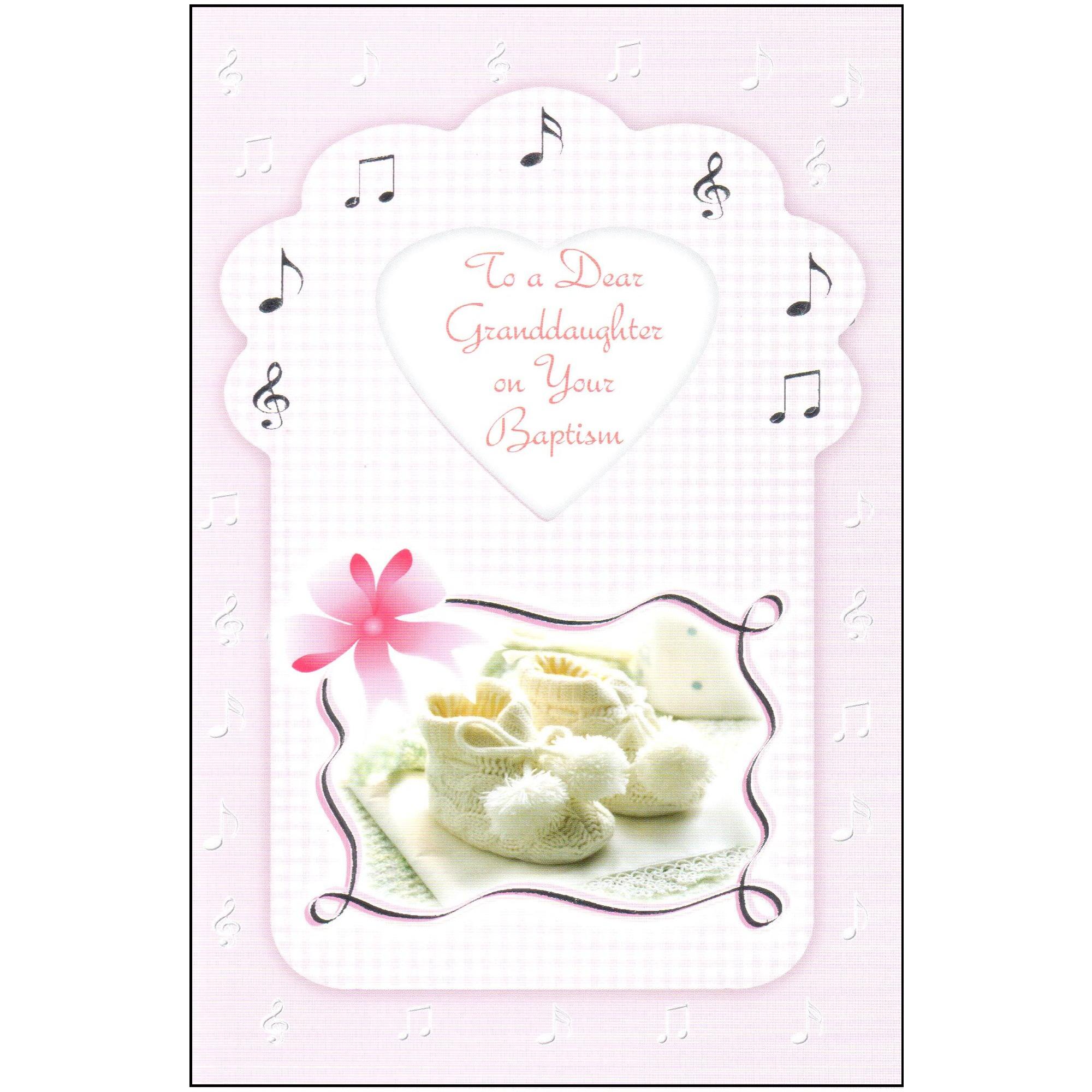Baptism Greeting Card - Granddaughter | The Catholic Company - Free Printable Baptism Greeting Cards