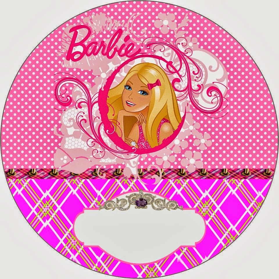 Barbie Princess Charm School: Free Printable Invitation And Candy - Free Printable Barbie Cupcake Toppers