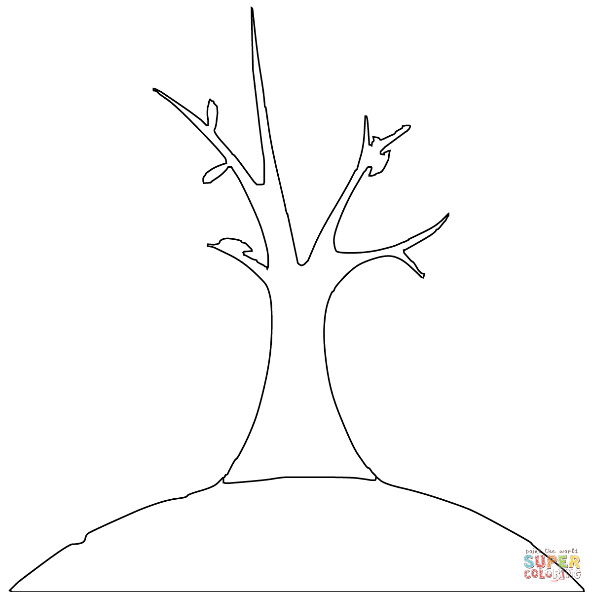 Bare Trees Coloring Pages | Free Printable Pictures - Coloring Home - Tree Coloring Pages Free Printable