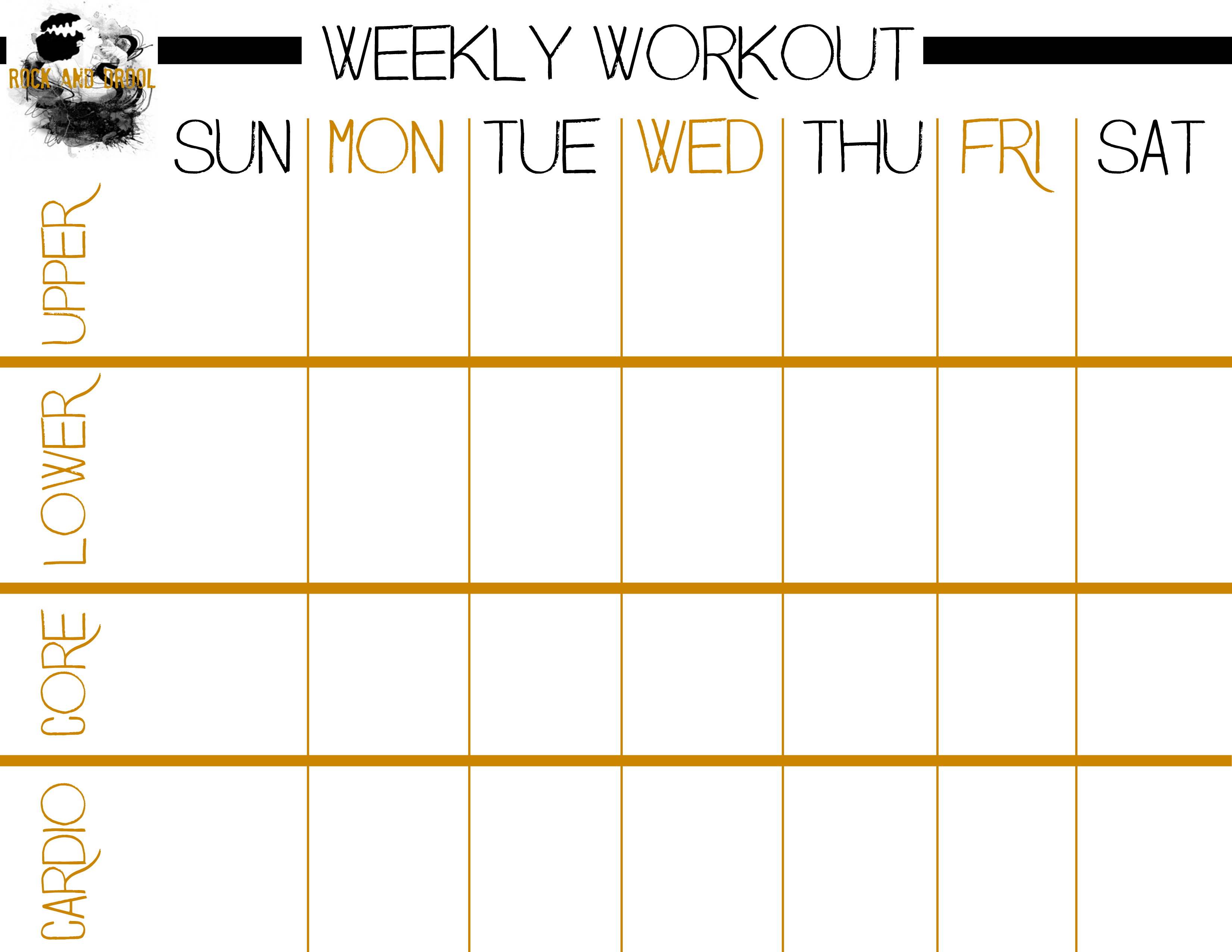 Basic Full Body Workout Plus Free Printable Workout Sheet - Rock And - Free Printable Gym Workout Plans