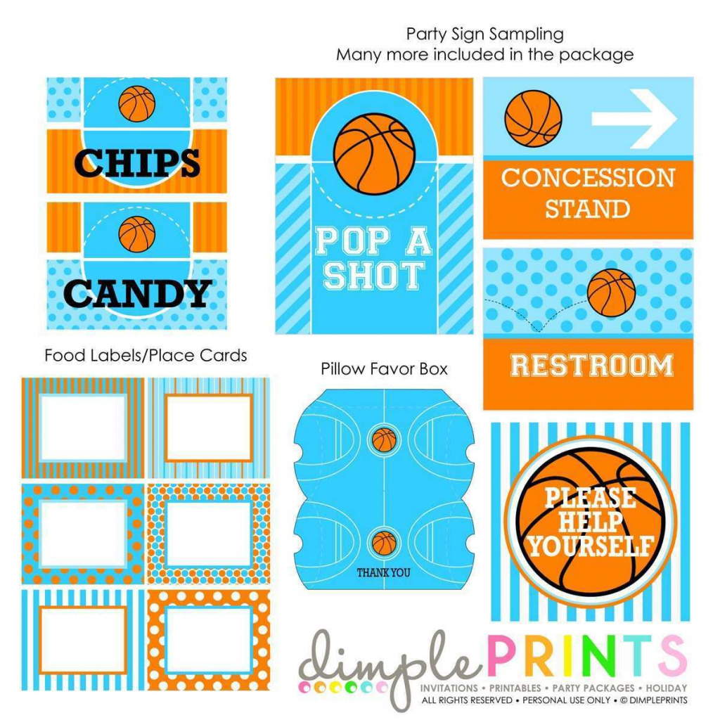 Basketball Invites Free Printable | Free Printable - Basketball Invites Free Printable