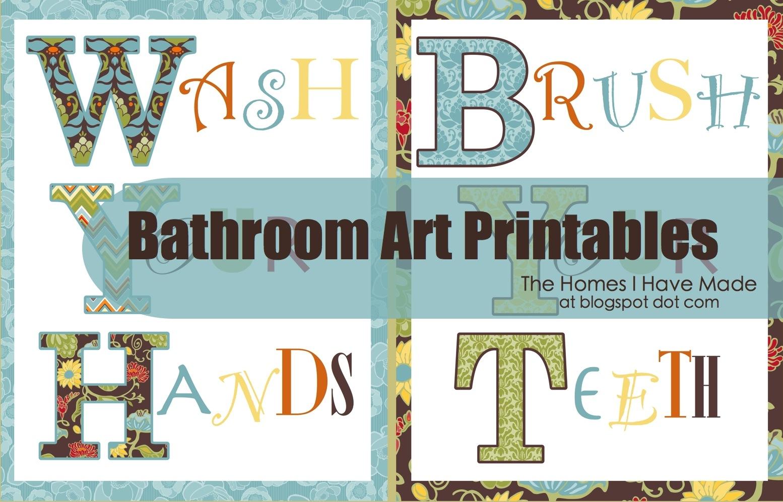 Bathroom Wall Art Printables | The Homes I Have Made - Free Printable Wall Art For Bathroom