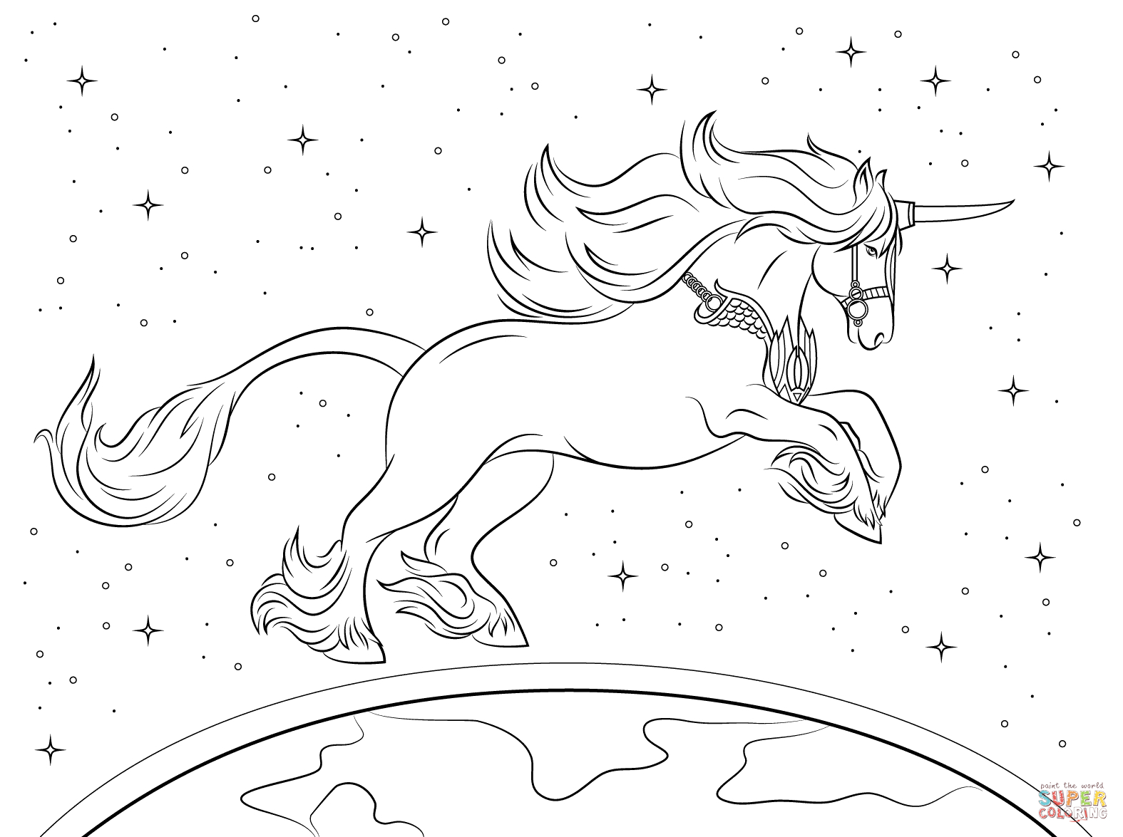 Beautiful Unicorn Coloring Page | Free Printable Coloring Pages - Free Printable Unicorn Coloring Pages